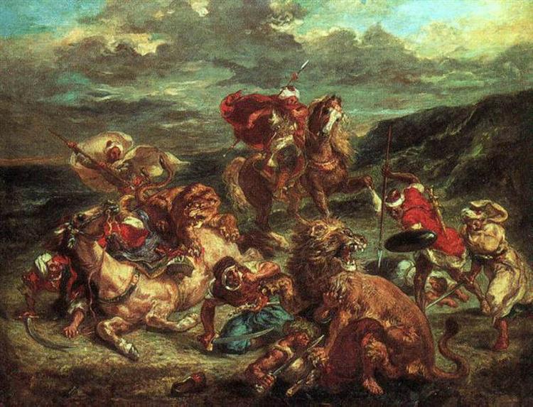 Lion Hunt, 1861 - Eugene Delacroix