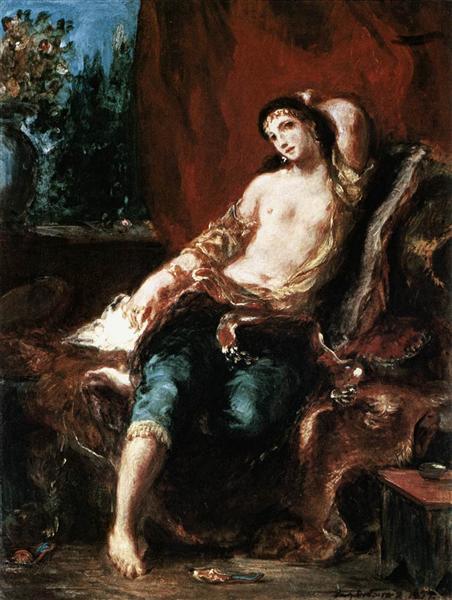 Одалиска, 1857 - Эжен Делакруа