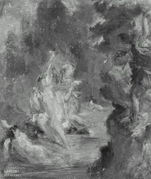 Summer Diana Surprised at her Bath by Actaeon, 1821 - 1822 - Eugene Delacroix