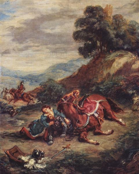 The death of Laras, 1858 - Eugene Delacroix