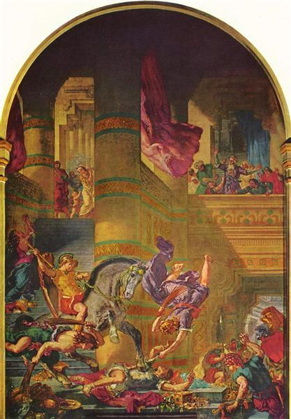 The Expulsion of Heliodorus, 1856 - 1861 - Eugène Delacroix