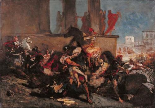 The rape of Sabine women, c.1850 - Eugene Delacroix