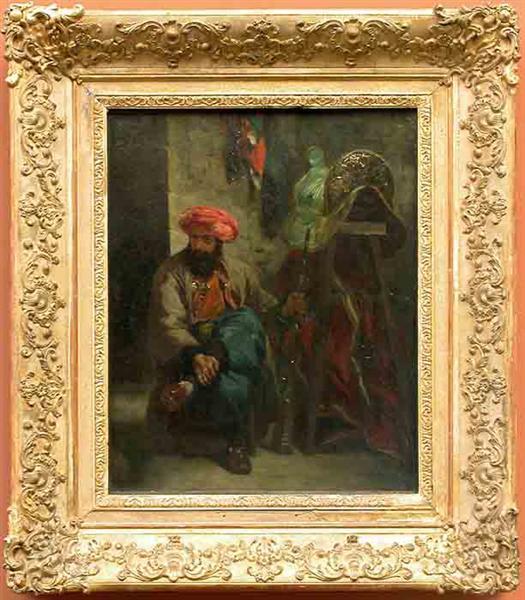 Turk with a Saddle, 1824 - 1825 - Eugene Delacroix