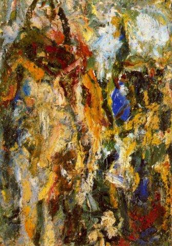 Landscape with a blue spot, 1967 - Eugene Leroy