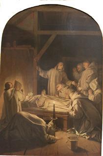 Death of St. Bruno - Eustache Le Sueur