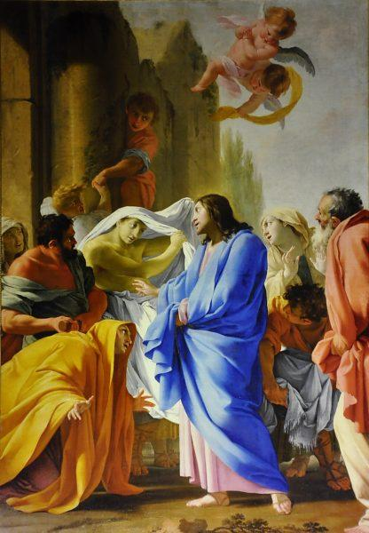 La résurrection du fils de la veuve de Naïm - Eustache Le Sueur