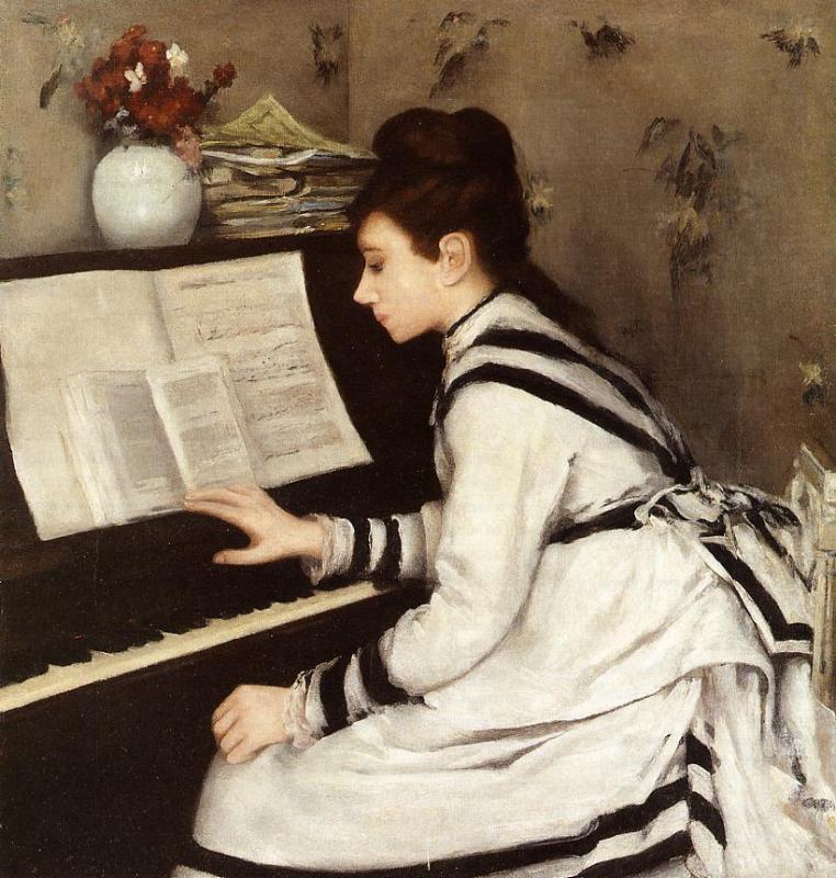 Secretly 1877 1878 Eva Gonzales Wikiart Org