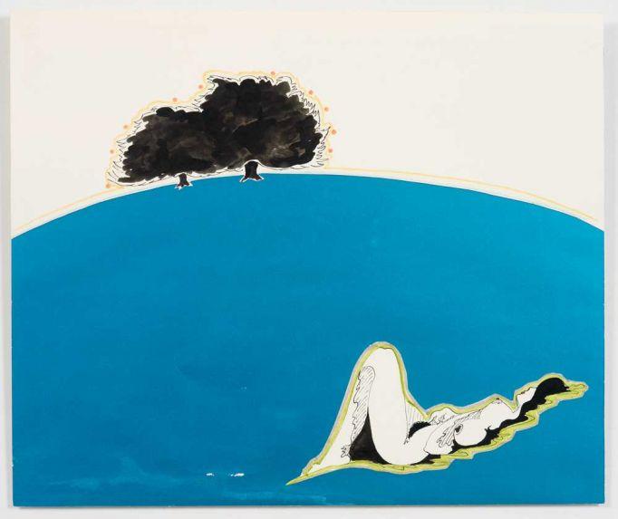 La Terre est ronde, variation sur Le Paysage, 1971 - Evelyne Axell
