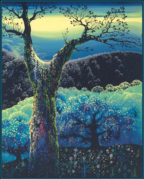 Orchard in Bloom, 1974 - Eyvind Earle