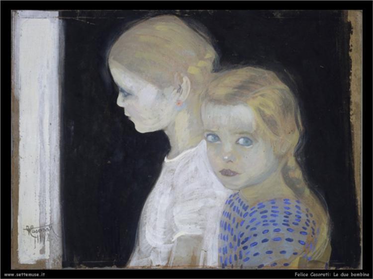 Two girls - Felice Casorati