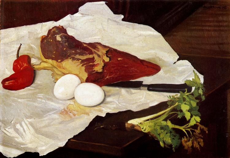 Meat and eggs, 1918 - Felix Vallotton