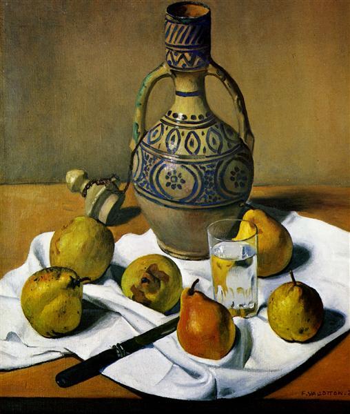 Moroccan jug and pears, 1924 - Felix Vallotton