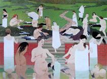 The Bath, Summer Evening - Felix Vallotton