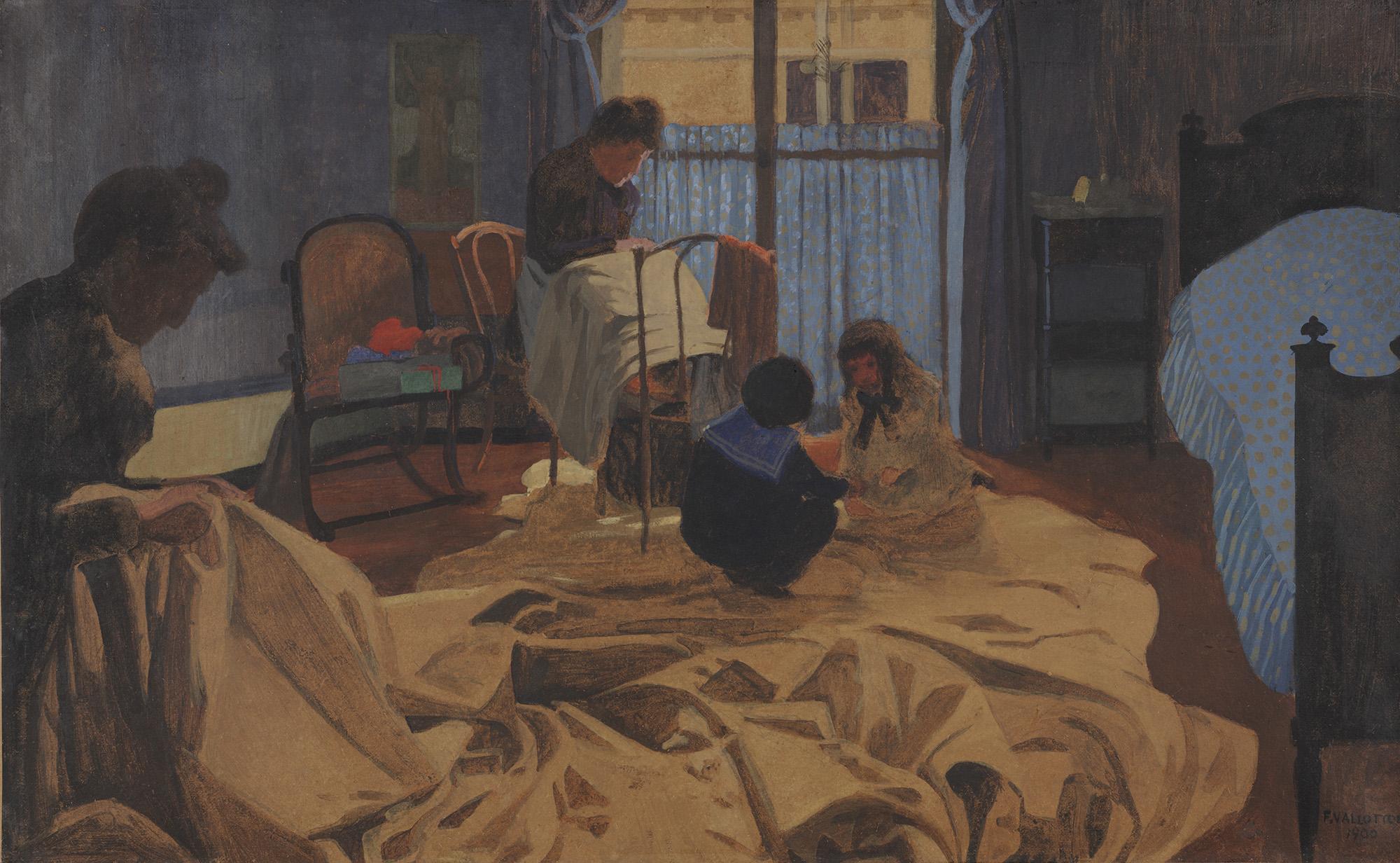 The Laundress, Blue Room, 1900 - Felix Vallotton - WikiArt.org