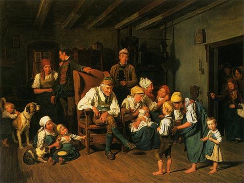 Grandfathers Birthday  - Ferdinand Georg Waldmüller