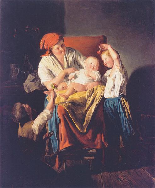 Mothers joy, 1860 - Ferdinand Georg Waldmüller
