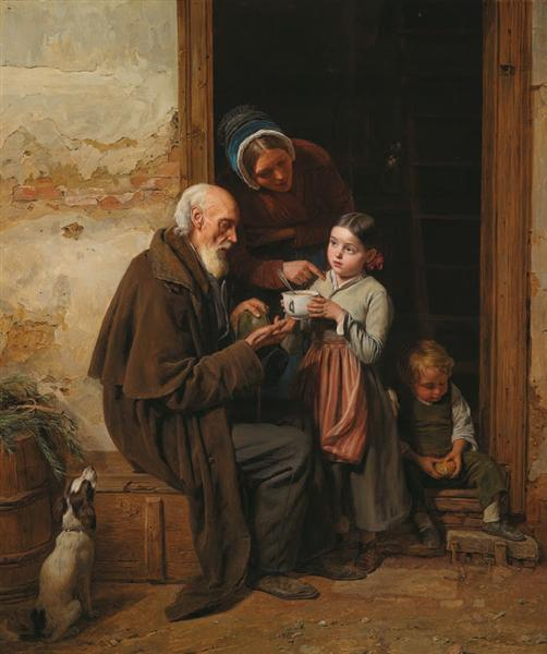 The charity, 1865 - Ferdinand Georg Waldmüller