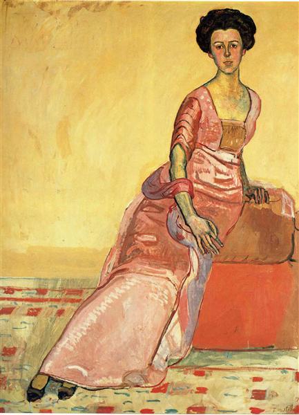 Portrait of Gertrud Muller - Ferdinand Hodler