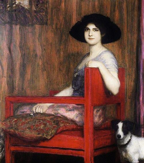 Mary von Stuck, 1916 - Фернан Кнопф