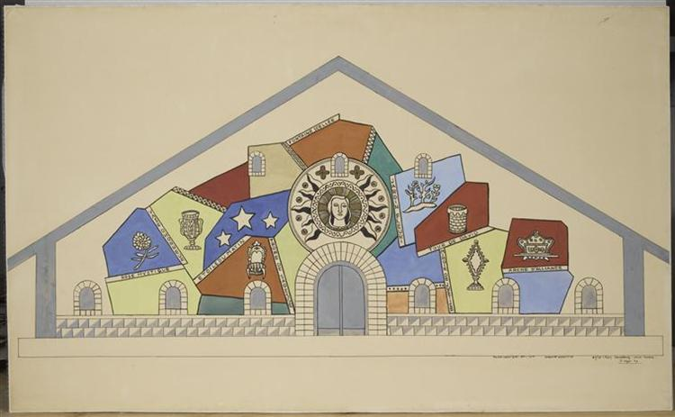 Model for the mosaic of the Church of Our Lady of All Graces, 1947 - Fernand Leger
