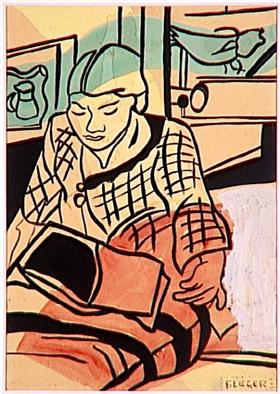 Reading - Fernand Leger