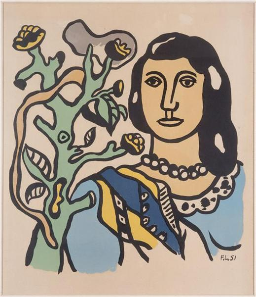 The woman and the flower, 1954 - Fernand Léger