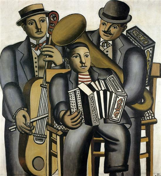 Three musicians, 1930 - Fernand Leger