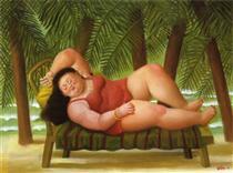 Bather on the Beach - Fernando Botero