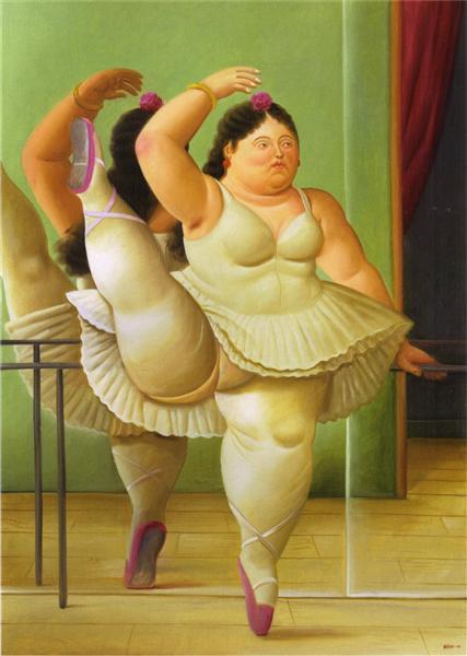 Dancers at the Bar, 2001 - Fernando Botero