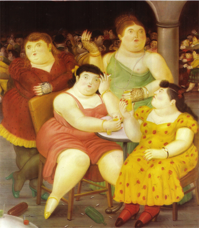 Four women 1987 fernando botero for El jardin de botero