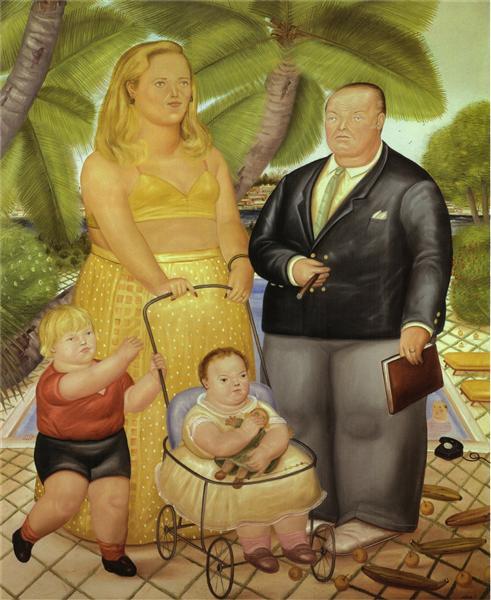 Frank Lloyd and His Family in Paradise Island, 1972 - Fernando Botero