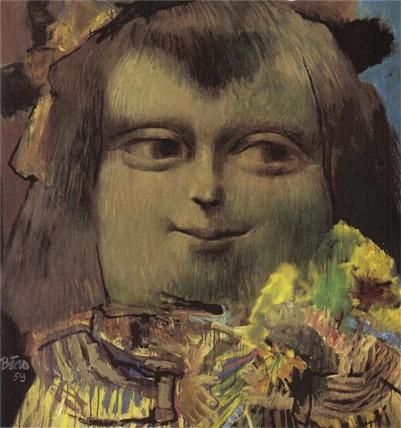 Mona Lisa at the Age of Twelve Years, 1959 - Фернандо Ботеро