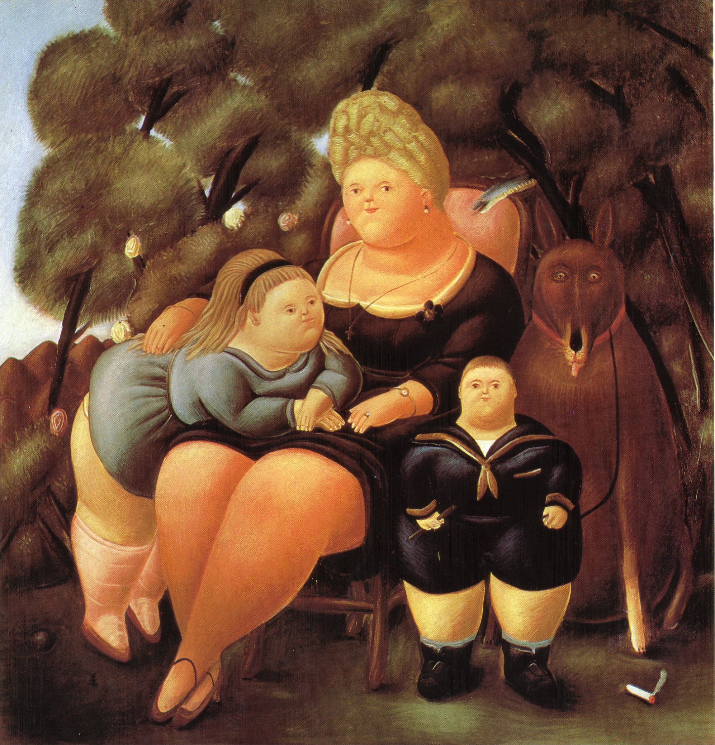 Populaire The Family, 1966 - Fernando Botero - WikiArt.org GU85