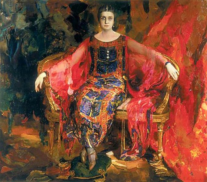 Portrait of Alexandra Balashova, 1924 - Filipp Malyavin