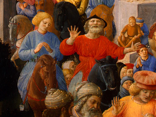 Adoration of the Magi (detail) - Filippo Lippi