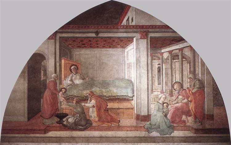 Birth and Naming St. John, 1465 - Filippo Lippi