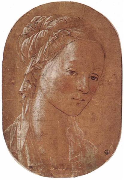 Head of a Woman, 1452 - Filippo Lippi
