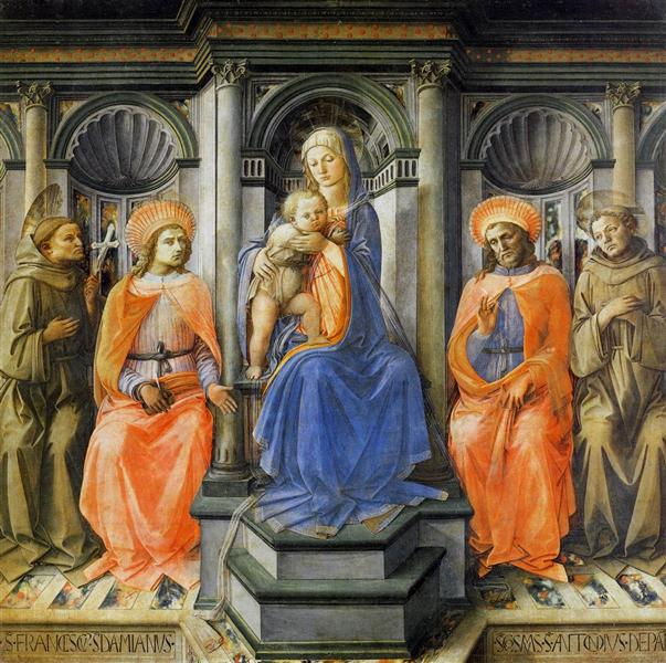 Madonna Enthroned with Saints, c.1445 - Fra Filippo Lippi