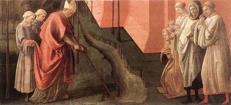 St. Fredianus Diverts the River Serchio, c.1438 - Filippo Lippi