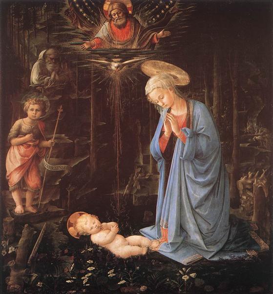 The Adoration of the Infant Jesus - Lippi Filippo