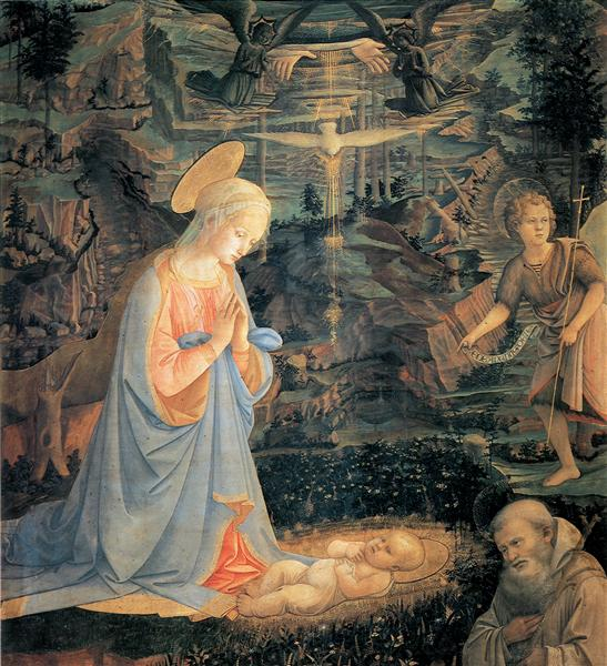The Adoration of the Infant Jesus, 1465 - Filippo Lippi