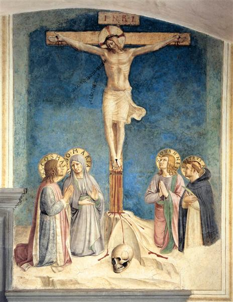 Crucifixion with the Virgin and Sts. Cosmas, John the Evangelist and Peter Martyr, 1441 - 1442 - Fra Angelico