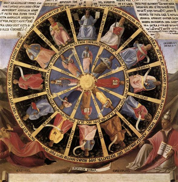Mystic Wheel (The Vision of Ezekiel), 1451 - 1452 - Fra Angelico