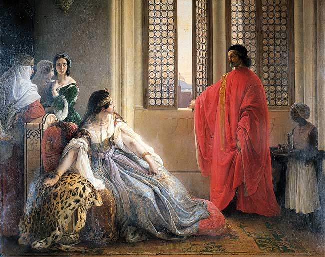 Caterina Cornaro Deposed from the Throne of Cyprus, 1842 - Francesco Hayez