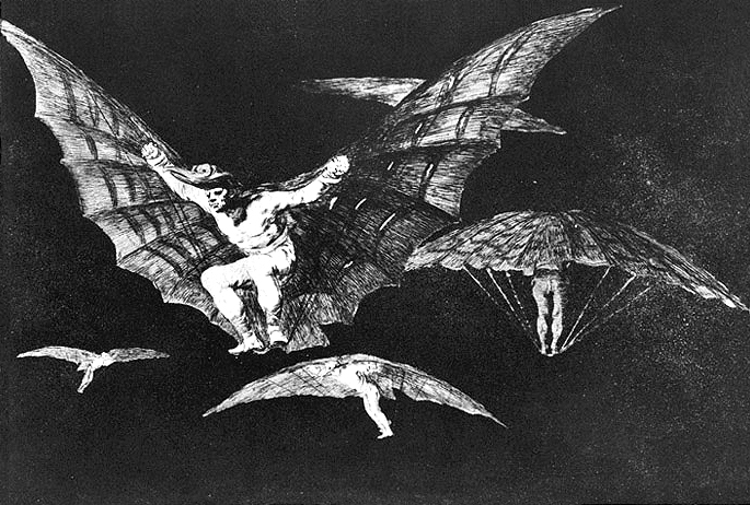 A way of flying, 1816 - 1823 - Francisco Goya