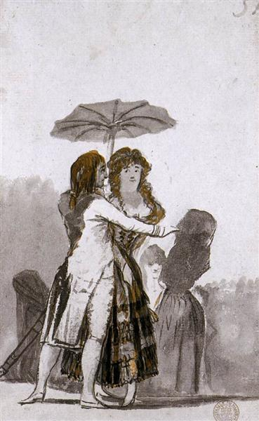 Couple with Parasol on the Paseo, 1796 - 1797 - Francisco Goya