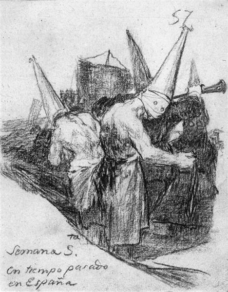 Holy Week in Spain in Times Past, 1820 - 1824 - Francisco Goya
