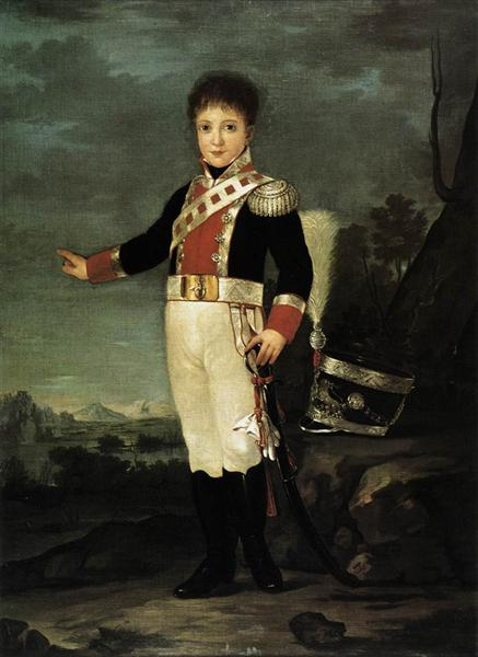 Infante Don Sebastián Gabriel de Borbón y Braganza, 1822 - Francisco Goya