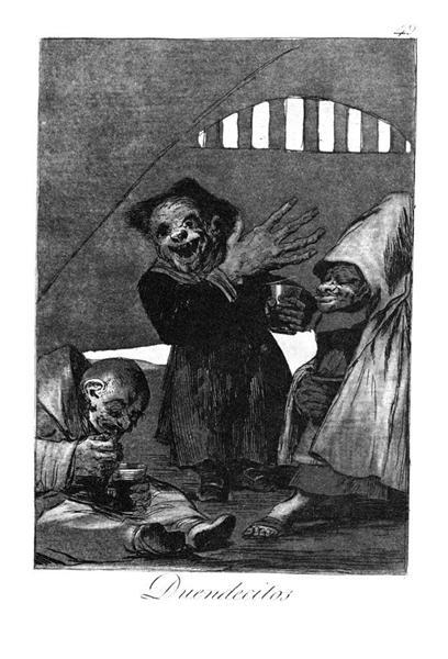 Little goblins, 1799 - Francisco Goya