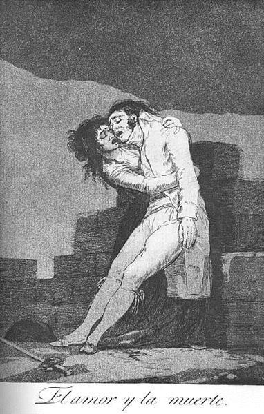 Love and Death, 1799 - Francisco Goya